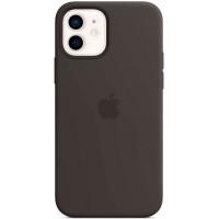 Чехол Apple iPhone 12 / 12 Pro Silicone MagSafe Black