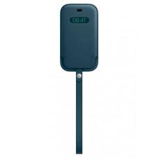 Чехол для APPLE iPhone 12 mini Leather Sleeve with MagSafe Baltic Blue MHMQ3ZE/A