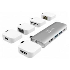 Док-станция j5create Ultradrive Kit USB Type-C - USB-C PD 3.0/USB-C 3.1/HDMI/USB-A 3.1x2/4K HDMI SD/microSD JCD389