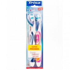 Электрическая зубная щетка Trisa Sonicpower Battery, 2 шт.666700-Orange-Blue Trisia Электрическая зубная щетка Trisa Sonicpower Battery, 2 шт.666700-Orange-Blue