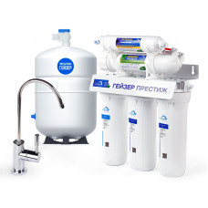 Фильтр для воды Гейзер Престиж Кран 6, бак 12 литров 20001