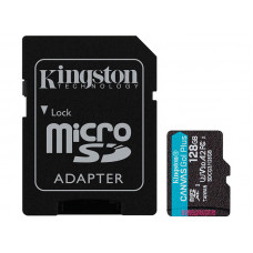 Карта памяти 128Gb - Kingston Canvas Go! Micro Secure Digital HC Class10 UHS-I Canvas Select + SD Adapter SDCG3/128GB с переходником под SD