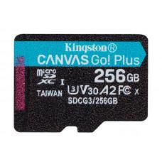 Карта памяти 256Gb - Kingston MicroSDHC 170R A2 U3 V30 Canvas Go Plus SDCG3/256GBSP