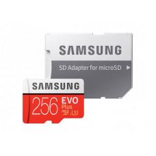 Карта памяти 256Gb - Samsung Micro Secure Digital XC EVO Plus Class10 MB-MC256HA/RU с переходником под SD