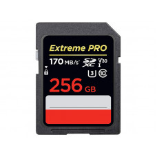 Карта памяти 256Gb - SanDisk Extreme Pro - Secure Digital XC Class 10 UHS-I U3 V30 SDSDXXY-256G-GN4IN