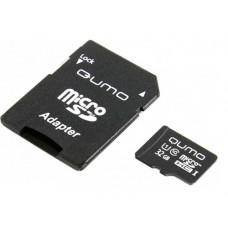 Карта памяти 32Gb - Qumo Micro SecureDigital CL10 UHS-I QM32GMICSDHC10U1
