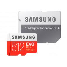Карта памяти 512Gb - Samsung Micro Secure Digital XC EVO Plus Class10 MB-MC512HA/RU с переходником под SD