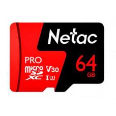 Карта памяти 64Gb - Netac P500 Extreme Pro MicroSDXC Class 10 A1 V30 NT02P500PRO-064G-S