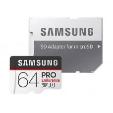 Карта памяти 64Gb - Samsung - Micro Secure Digital HC Pro Endurance UHS-I Class 10 SAM-MB-MJ64GARU с переходником под SD