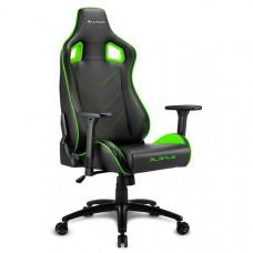 Кресло компьютерное игровое Sharkoon Elbrus 2 Black/Green