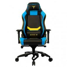 Кресло компьютерное игровое ZONE 51 Cyberpunk Blue Yellow (Z51-CBP-BY)