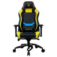 Кресло компьютерное игровое ZONE 51 Cyberpunk Yellow Blue (Z51-CBP-YB)
