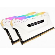 Модуль памяти Corsair Vengeance RGB Pro DDR4 DIMM 3000MHz PC4-24000 CL15 - 16Gb KIT (2x8Gb) White CMW16GX4M2C3000C15W