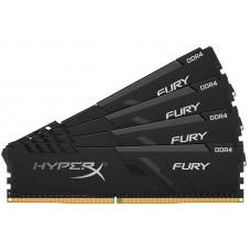 Модуль памяти Kingston HyperX Fury Black DDR4 DIMM 2666Mhz PC-21300 CL16 - 16Gb Kit (4x4Gb) HX426C16FB3K4/16