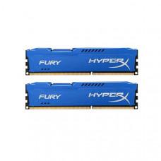 Модуль памяти Kingston HyperX Fury Blue Series DDR3 DIMM 1866MHz PC3-15000 CL10 - 16Gb KIT (2x8Gb) HX318C10FK2/16