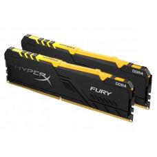Модуль памяти Kingston HyperX Fury RGB DDR4 DIMM 2666Mhz PC-21300 CL16 - 32Gb Kit (2x16Gb) HX426C16FB3AK2/32