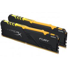 Модуль памяти Kingston HyperX Fury RGB DDR4 DIMM 3000MHz PC4-24000 CL15 - 16Gb KIT (2x8Gb) HX430C15FB3AK2/16
