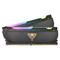Модуль памяти Patriot Memory Viper Steel RGB DDR4 DIMM 3200MHz PC4-25600 CL18 - 32Gb Kit (2x16Gb) PVSR432G320C8K