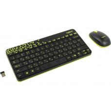 Набор Logitech Wireless Combo MK240 Nano Black-Yellow 920-008213 Выгодный набор + серт. 200Р!!!