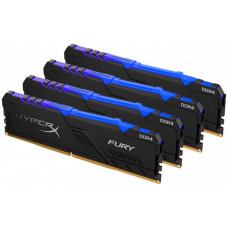 Оперативная память DIMM 64 Гб DDR4 2666 МГц Kingston HyperX Fury RGB (HX426C16FB3AK4/64) PC-21300, 4x 16 Гб KIT
