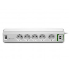 Сетевой фильтр APC Essential 5 Sockets 2xRJ-11 1.8m White PM5T-RS