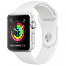 Смарт-часы Apple Watch S3 42mm Silver Al/White Sport Band