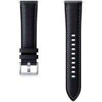 Сменный ремешок Samsung Stitch Leather Band Galaxy Watch3 41мм чёрный