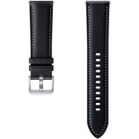 Сменный ремешок Samsung Stitch Leather Band Galaxy Watch3 45мм чёрный