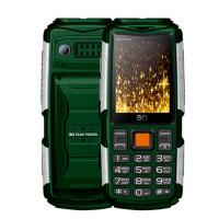 Сотовый телефон BQ BQ-2430 Tank Power Green-Silver