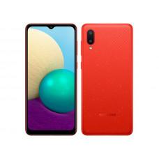 Сотовый телефон Samsung SM-A022GZ Galaxy A02 2/32Gb Red Выгодный набор + серт. 200Р!!!