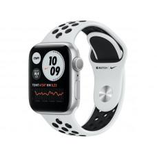 Умные часы APPLE Watch Nike Series 6 40mm Silver Aluminium Case with Pure Platinum/Black Nike Sport Band M00T3RU/A Выгодный набор + серт. 200Р!!!