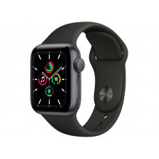Умные часы APPLE Watch SE 40mm Space Grey Aluminium Case with Black Sport Band MYDP2RU/A
