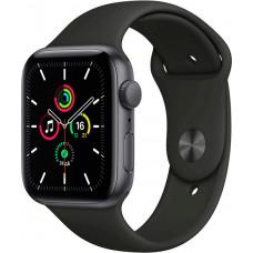 Умные часы Apple Watch SE, 44 мм, корпус из алюминия цвета «серый космос», спортивный ремешок