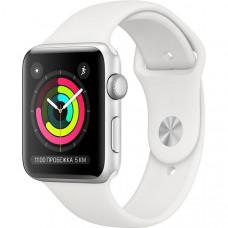 Умные часы Apple Watch Series 3 42 мм серебристый, спортивный ремешок