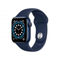 Умные часы APPLE Watch Series 6 40mm Blue Aluminium Case with Deep Navy Sport Band MG143RU/A