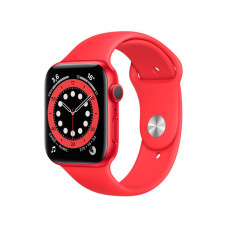 Умные часы APPLE Watch Series 6 44mm Red Aluminium Case with Red Sport Band M00M3RU/A Выгодный набор + серт. 200Р!!!