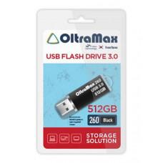 USB Flash Drive 512Gb - OltraMax 260 3.0 Black OM-512GB-260-Black