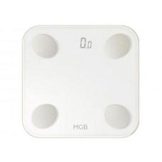 Весы напольные MGB Body fat scale Glass Edition White MGB F19 BW