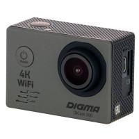 Видеокамера экшн Digma DiCam 300 серая