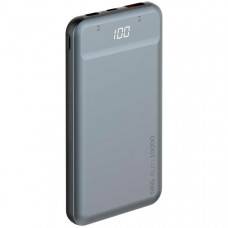 Внешний аккумулятор Deppa NRG Alum 10000mAh QC 3.0 PD 18W, Graphite (33557)