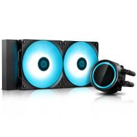 Водяное охлаждение DeepCool Gammaxx L240T Blue (Intel LGA20XX/LGA1366/LGA115X AMD AM4/AM3+/AM2+/FM+)