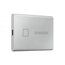 Жесткий диск Samsung External SSD 500Gb T7 Touch PCIe USB3.2/Type-C Silver MU-PC500S/WW